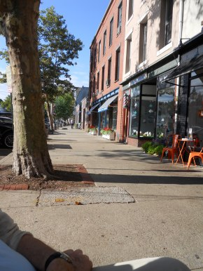 Downtown Sag Harbor, Sunday morning in September